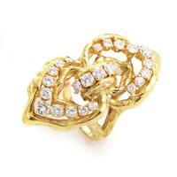 Chaumet Yellow Gold Diamond Ring