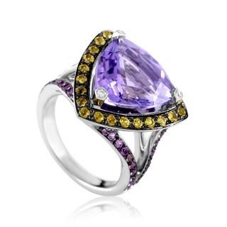 Mauboussin Women's White Gold Multi-Sapphire & Amethyst Ring