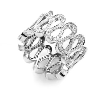Boucheron White Gold Wavy Diamond Band Ring