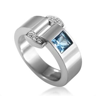 Piaget Miss Protocole White Gold Diamond & Topaz Ring