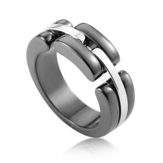 Chanel Ultra White Gold Ceramic Band Ring