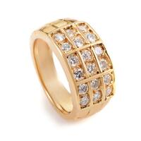 Mauboussin Women's Yellow Gold Diamond Band Ring