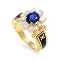 Korloff Women's Yellow Gold Diamond & Sapphire Enameled Ring