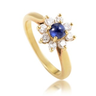 Pre-owned Tiffany & Co. Yellow Gold Diamond and Sapphire Flower Ring