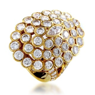Cartier Women's Yellow Gold Diamond Cluster Ring