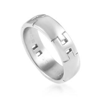Hermès Women's White Gold Hercules H Band Ring AK1B3764