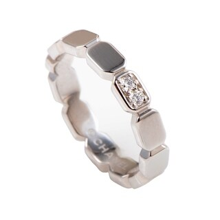 Chanel Première Womens Platinum and Diamond Band Ring