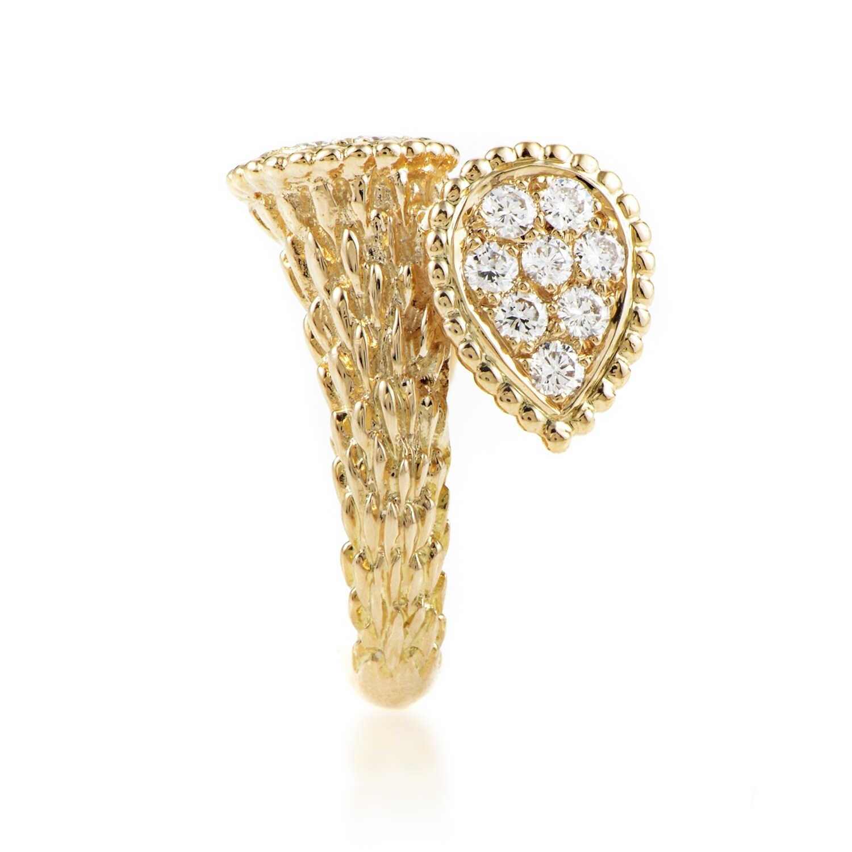 2fb6a4eb628fac Shop Boucheron Serpent Bohème Toi et Moi Womens Yellow Gold Diamond Ring -  Free Shipping Today - Overstock - 20360256