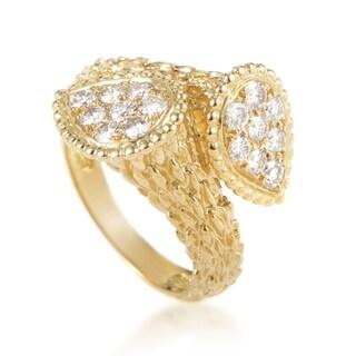 Boucheron Serpent Bohème Toi et Moi Womens Yellow Gold Diamond Ring