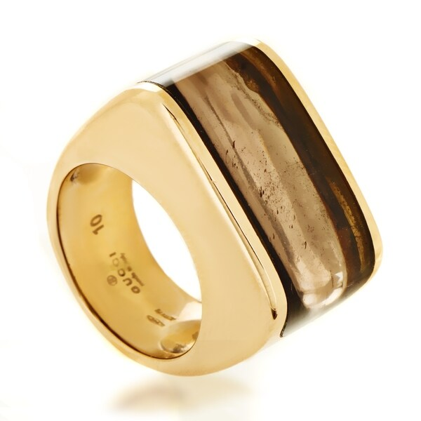 f29cc0b4e Shop Gucci Women's Rose Gold Smoky Topaz Ring - Free Shipping Today ...