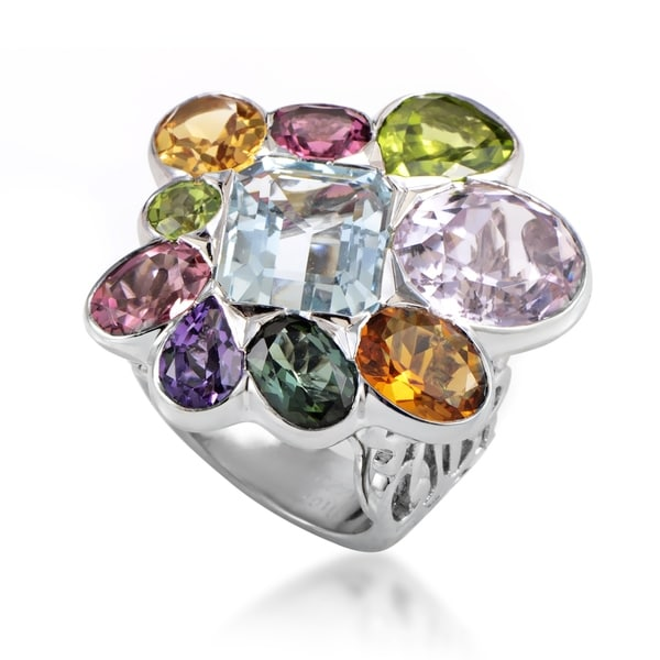 Dior Women's White Gold Multi-Gemstone Cocktail Ring