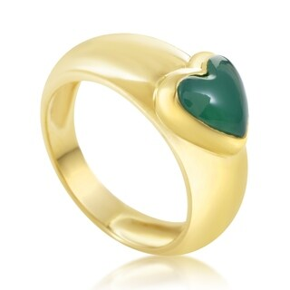 Van Cleef & Arpels Yellow Gold Green Chrysoprase Heart Ring