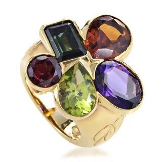Dior Women's Yellow Gold Multi-Gemstone Cluster Ring