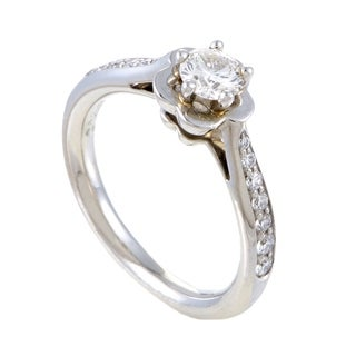 Chanel Camelia Women's Platinum Diamond Engagement Ring