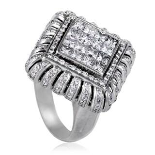 Nini Womens White Gold Diamond Pave Ring