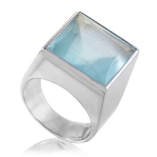 Gucci Women's White Gold Aquamarine Ring