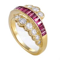 Van Cleef & Arpels Women's Yellow Gold Diamond & Invisible Set Ruby Ring