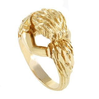 David Webb Unisex Carved Yellow Gold Band Ring