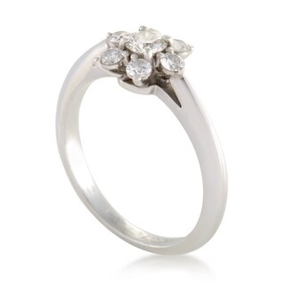 Pre-owned Tiffany & Co. Womens Platinum Diamond Flower Ring