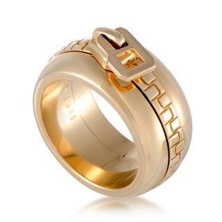 Yellow Gold Zipper Band Ring