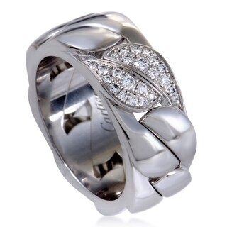 Cartier White Gold Diamond Leaf Band Ring