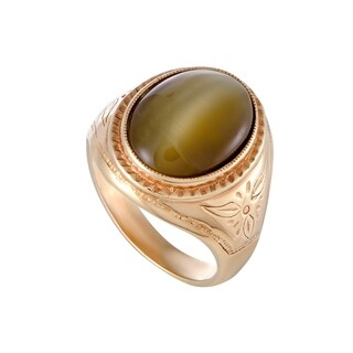 Yellow Gold Cat's Eye Cocktail Ring