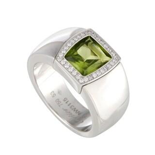 Cartier La Dona White Gold Diamond and Peridot Ring