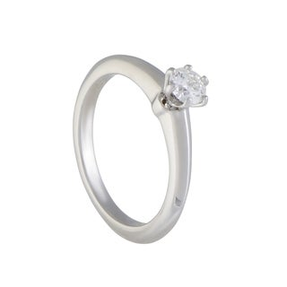 Pre-owned Tiffany & Co. Platinum .23ct Diamond Solitaire Engagement Ring