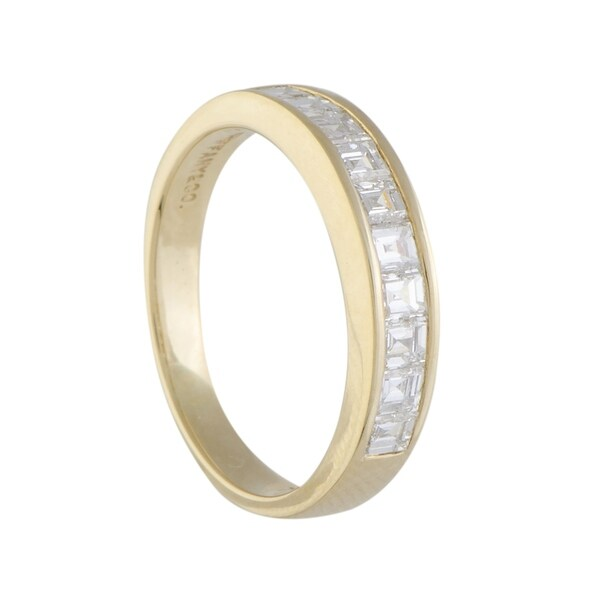 Pre-owned Tiffany & Co. Yellow Gold Invisible Set Diamond Band Ring
