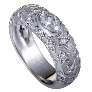 Chanel Comete White Gold Diamond Star Band Ring