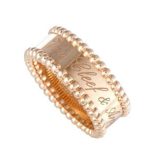Van Cleef & Arpels Perlée Rose Gold Signature Band Ring