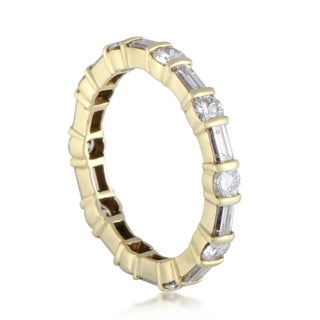 Van Cleef & Arpels Baguette and Round Cut Diamond Eternity Band Ring