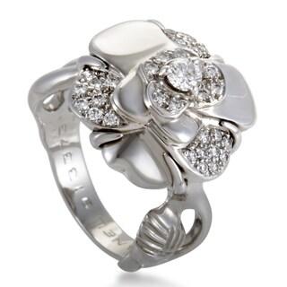 Chanel Camélia Small White Gold Diamond Ring