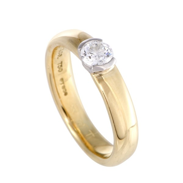 1c6409546 Pre-owned Tiffany & Co. Etoile Yellow Gold and Platinum .29ct Diamond