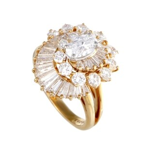 Oscar Heyman Yellow Gold Swirled Diamond Ring
