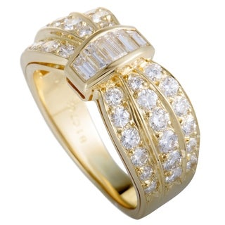Van Cleef & Arpels Yellow Gold and Diamond Cinched Band Ring