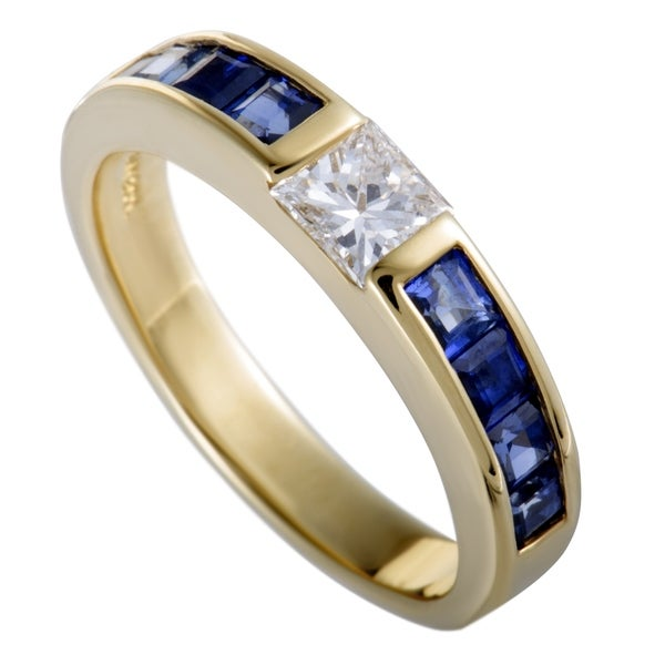 adf456d10b5c Shop Pre Owned Tiffany Co Yellow Gold Diamond And Sapphire