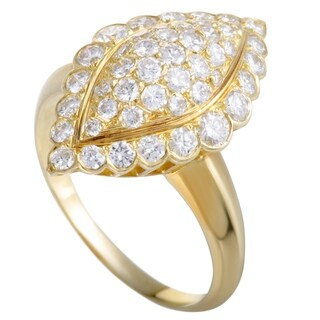 Van Cleef & Arpels Vintage Yellow Gold Full Diamond Pave Ring