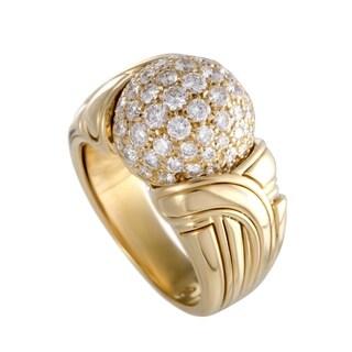 Bvlgari Yellow Gold Diamond Pave Ring