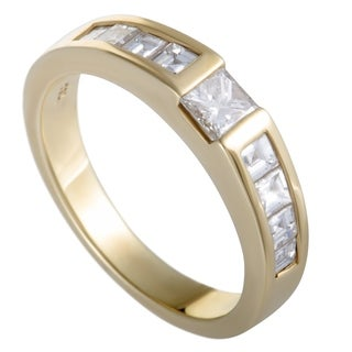 Pre-owned Tiffany & Co. Yellow Gold Diamond Invisible Set Band Ring