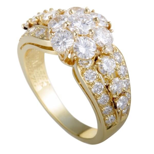 d0c236d774adc Shop Van Cleef   Arpels Fleurette Yellow Gold Diamond Flower Ring ...