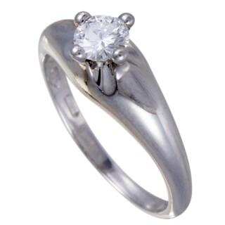 Bvlgari Platinum .40ct Diamond Solitaire Engagement Ring