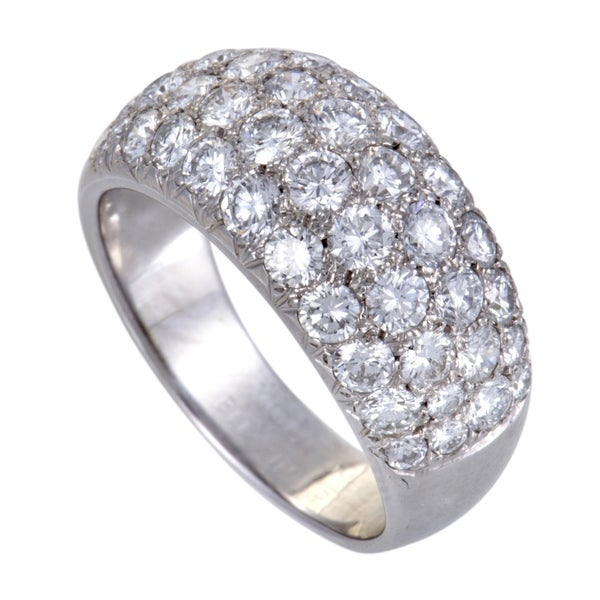 a0942393dad4e Shop Van Cleef   Arpels White Gold 2.25ct Diamond Pave Band Ring ...