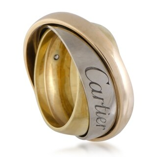 Cartier Trinity Yellow, White and Rose Gold Signature 3-Band Ring