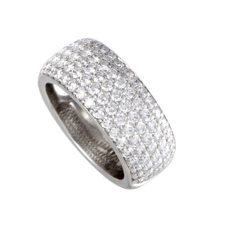 Cartier White Gold 2.08ct Diamond Pave Band Ring