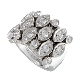 Cartier Diadea White Gold Diamond Pave Band Ring