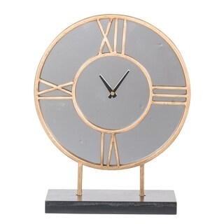 Silver Orchid Neufeld Table Clock