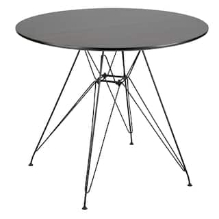 8d0d982df294 Avery Round Dining Table in Black and Walnut