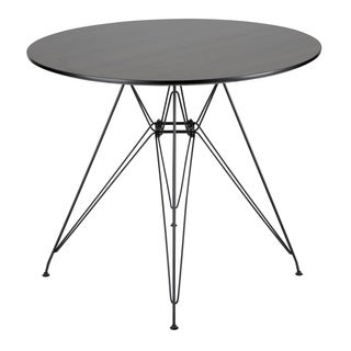 Avery Round Dining Table in Black and Walnut