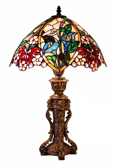 Tiffany-style Flower Design Table Lamp